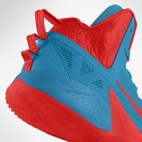 Nike Zoom Hyperfuse 2013 iD Custom Men's Basketball Shoes - Blue