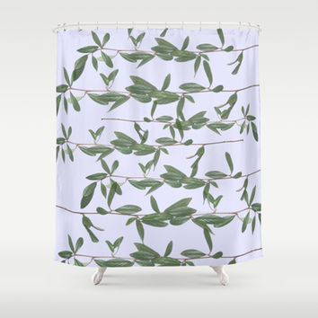 bucket Shower Curtain by Austeja Saffron