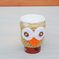 Owl Cosy Cup Can Warmer  Holder  Uk