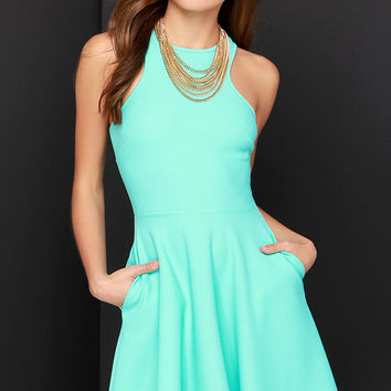 Now or Skater Mint Green Dress