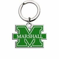 Marshall Thundering Herd Large Size Stainless Steel Key Ring With Color