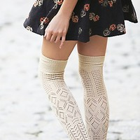 Free People Womens Amazing Pointelle Thigh High