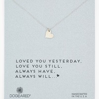 Women's Dogeared 'Love - Sparkle Heart' Boxed Pendant Necklace - Rose Gold
