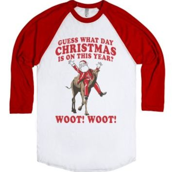 Guess What Day Christmas Is On This Year?-Unisex White/Red T-Shirt