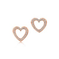 Tiffany & Co. - Tiffany Hearts® earrings with diamonds in 18k rose gold.