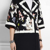 Erdem - Jaidee printed stretch-crepe coat