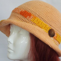Womans Spring Hat Hand Crocheted Hat Bamboo by SophiesHats