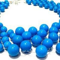 turquoise mountain jade woven necklace