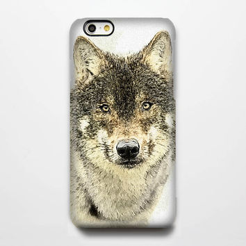 Wolf Sketch iPhone 6 Case/Plus/5S/5C/5/4S Protective Case#279
