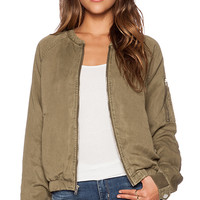 Sanctuary Pilot Bomber Jacket in Army