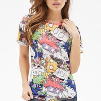 FOREVER 21 Rugrats Graphic Tee White/Multi