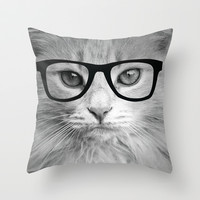 THE HIPPEST CAT Throw Pillow by Allyson Johnson