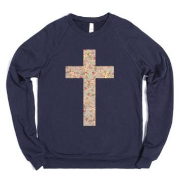 Floral Cross (Crew Neck Sweatshirt) |
