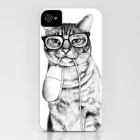 Mac Cat iPhone Case by Florever | Society6