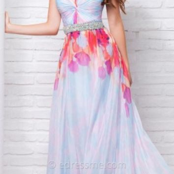 Iridescent Print Prom Gown by Tony Bowls Le Gala