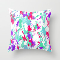 Splat Throw Pillow by Ally Coxon | Society6