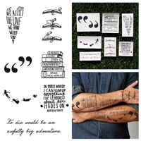Bookworm - Temporary Tattoo Pack (Set of 14)