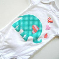 Children Clothing Boutique Clothing Kids by eleanorestreasures- Elephant Onesuit
