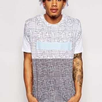 ASOS T-Shirt With Allover Scribble Print and Relaxed Fit