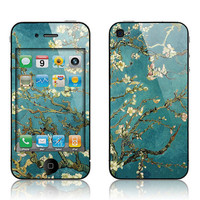 SkunkWraps Decal Skin for Apple iPhone 4 4S  - Van Gogh Blossoming Almond Tree Cover