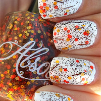 Falling Leaves - Unique Hand Mixed Nail Polish / Lacquer in a Full Sized Bottle - Gifts Under 10