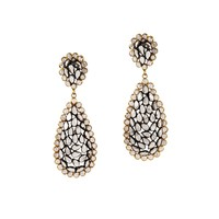 Crystal Pear Drop Earrings | Pomegranate | Wolf & Badger