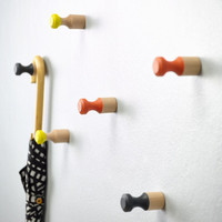 Wooden wall pegs
