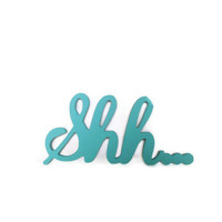Wood sign Shh... Wall hanging shelf decor for nursery, spa setting, quiet space