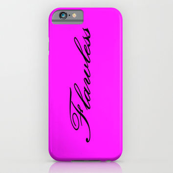 Flawless Pink & Black iPhone & iPod Case by 2sweet4words Designs