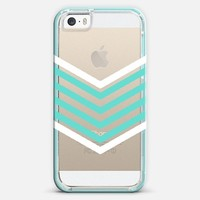 Teal & White Chevron on Clear iPhone 6 case by Tangerine- Tane | Casetify