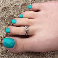 Vintage look sterling silver toe ring floral flower design toe ring adjustable toe ring (T-02) knuckle ring