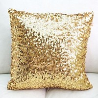 Europe Luxurious Sequin Pillow Cushion Cover Pillow Case 17-inch By 17-inch