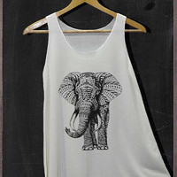 Elephant Animals Graphic Shirt Tank Top Women Size S and M