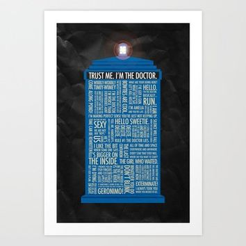 Doctor Who  Art Print by Luke Eckstein | Society6