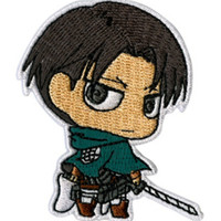 Attack On Titan Chibi Levi Patch