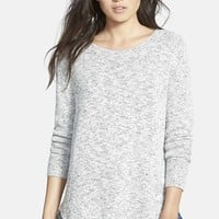 Women's Madewell Marled Button Back Sweater,