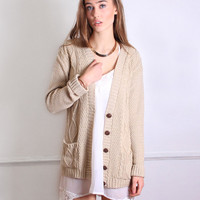 Casual Cable Cardigan