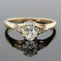 Contemporary Oval and Pear Cut Fine Diamond Three Stone Ring, Engagement or Right Hand ladies, RGDI255D