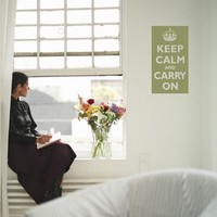 Wall Decal - Keep Calm and Carry On Poster Style Vinyl Wall Art 1115