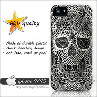 Black Death Skull iphone 4 case Day Of The Dead Skull iphone4 casing Rare
