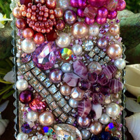 iPhone 4/4S Lovely Lavender and Pearl Case