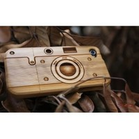 [MADE FROM RAW WOOD] Bamboo Case for iPhone 4/4S (Camera)