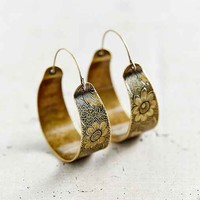 Mandarin Escape Hoop Earring- Gold One