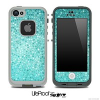 Turquoise Spotted Mosaic V3 Skin for the iPhone 5 or 4/4s LifeProof Case