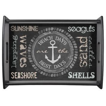 Nautical Best Days Beach Days Blackboard Tray