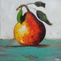 10x10 Print of oil painting Pear 17 by Roz by RozArt on Etsy