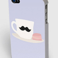 Moustache Mug and Macaroon iPhone4/4s/5 Case