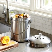 Brushed Stainless-Steel Compost Pail