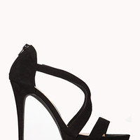 FOREVER 21 Clear Cut Stiletto Sandals