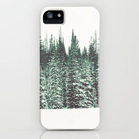 Snow on the Pines iPhone Case by Melanie Ann | Society6
